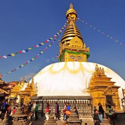 2000 year old Swayambhunath Stupa or Monkey Temple