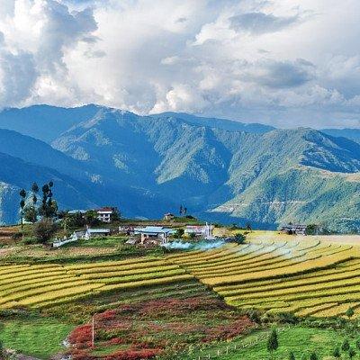 Trashigang or Auspicious Mountain in Bhutan