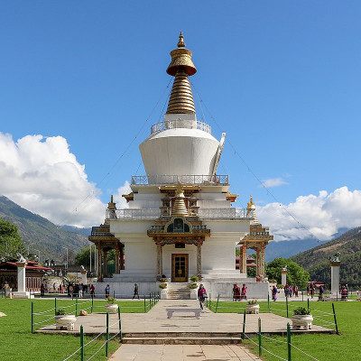 Memorial Chorten in Thimphu Bhutan
