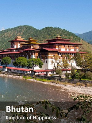 Drifting Prayer Flags over Tiger's Nest in Bhutan
