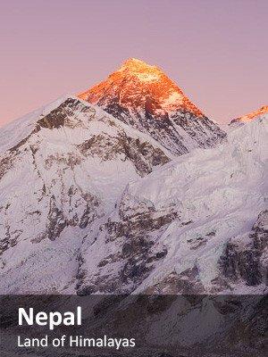 Mountain Range in Nepal