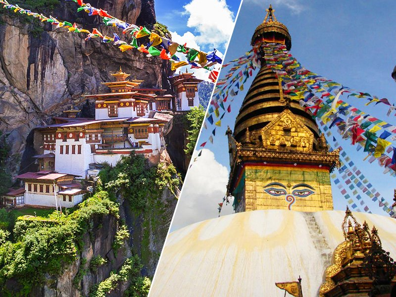 Tiger's Nest, Bhutan and Swayambhunath, Nepal
